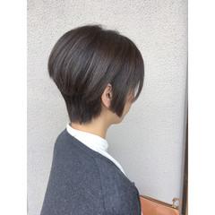 前下がり ショート ボブ モード ヘアスタイルや髪型の写真・画像