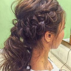 ヘアアレンジ ラフ アッシュ ロング ヘアスタイルや髪型の写真・画像