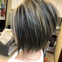ハイライト ナチュラル ボブ 西海岸風 ヘアスタイルや髪型の写真・画像