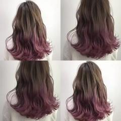 ミディアム ダブルカラー ブリーチ ストリート ヘアスタイルや髪型の写真・画像