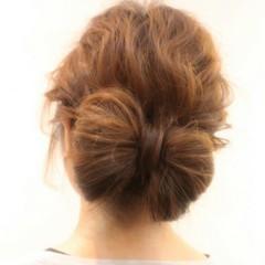 ロング ヘアアレンジ 結婚式 ガーリー ヘアスタイルや髪型の写真・画像