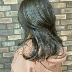 艶髪 アッシュグレージュ N.オイル ナチュラル ヘアスタイルや髪型の写真・画像