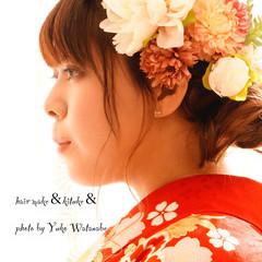 結婚式 成人式 ヘアアレンジ 着物 ヘアスタイルや髪型の写真・画像