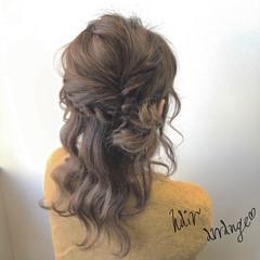 簡単ヘアアレンジ 大人女子 セミロング ショート ヘアスタイルや髪型の写真・画像
