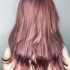 オルチャン ベリーピンク ピンクベージュ ピンク ヘアスタイルや髪型の写真・画像