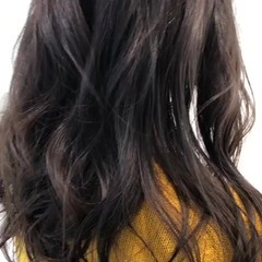 外国人風カラー ロング グレージュ 透明感 ヘアスタイルや髪型の写真・画像