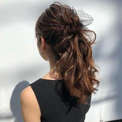 ロング ポニーテール ヘアアレンジ 大人かわいい ヘアスタイルや髪型の写真・画像