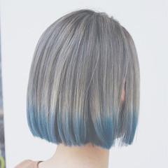 モード グラデーションカラー ボブ ダブルカラー ヘアスタイルや髪型の写真・画像