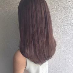 ロング ナチュラル ラベンダーアッシュ グラデーションカラー ヘアスタイルや髪型の写真・画像