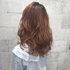 ダブルカラー セミロング ブリーチ 外国人風カラー ヘアスタイルや髪型の写真・画像