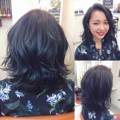 アッシュ ブルージュ 上品 暗髪 ヘアスタイルや髪型の写真・画像