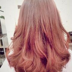 フェミニン グラデーションカラー ゆるふわ ロング ヘアスタイルや髪型の写真・画像