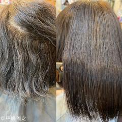 切りっぱなしボブ ナチュラル 髪質改善トリートメント 髪質改善 ヘアスタイルや髪型の写真・画像