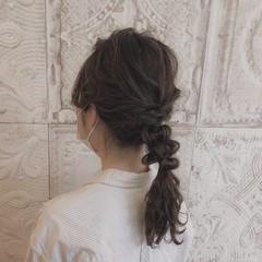 セミロング フェミニン 大人女子 ゆるナチュラル ヘアスタイルや髪型の写真・画像