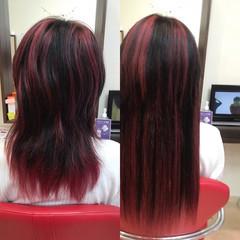 ストレート ハイライト ハイトーン 韓国ヘア ヘアスタイルや髪型の写真・画像