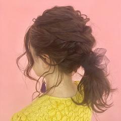 ナチュラル ヘアアレンジ ミディアム ヘアスタイルや髪型の写真・画像
