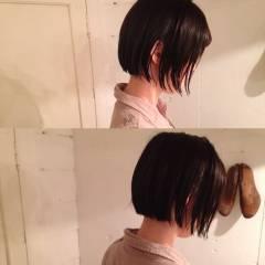 暗髪 ストリート ウェットヘア 黒髪 ヘアスタイルや髪型の写真・画像