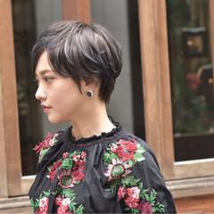 ハイライト 外国人風 ショート ベリーショート ヘアスタイルや髪型の写真・画像