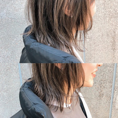 ミディアムレイヤー ニュアンスウルフ ストリート 外ハネボブ ヘアスタイルや髪型の写真・画像