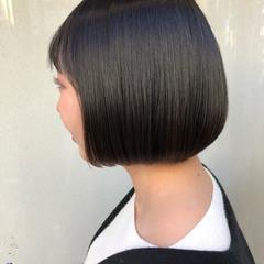 ミニボブ ワンレン オルチャン ボブ ヘアスタイルや髪型の写真・画像