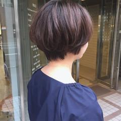ナチュラル ショート ショートヘア 小顔ショート ヘアスタイルや髪型の写真・画像