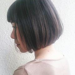 ボブ フェミニン 暗髪 黒髪 ヘアスタイルや髪型の写真・画像