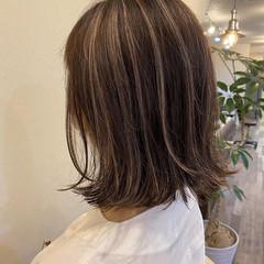 大人女子 グラデーションカラー ハイライト 大人かわいい ヘアスタイルや髪型の写真・画像