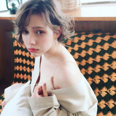 ハーフアップ ヘアアレンジ 外国人風 ボブ ヘアスタイルや髪型の写真・画像