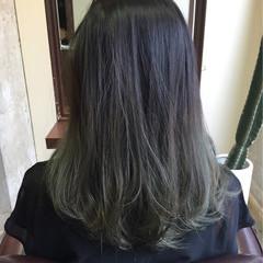 外国人風 グラデーションカラー アッシュ マット ヘアスタイルや髪型の写真・画像