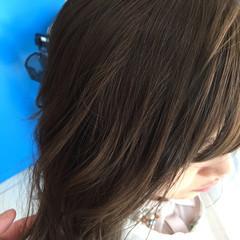 大人かわいい セミロング ラベンダーアッシュ かわいい ヘアスタイルや髪型の写真・画像