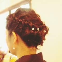 ヘアアレンジ コンサバ 結婚式 ヘアスタイルや髪型の写真・画像