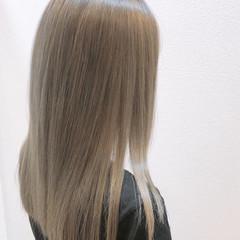 髪質改善カラー ロング ブリーチカラー ナチュラル ヘアスタイルや髪型の写真・画像