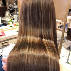 ハイライト トリートメント ヘアカラー ツヤ髪 ヘアスタイルや髪型の写真・画像