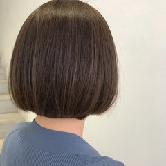 ナチュラル 大人可愛い 大人ハイライト モテボブ ヘアスタイルや髪型の写真・画像