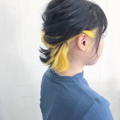 ストリート ブリーチ ヘアアレンジ インナーカラー ヘアスタイルや髪型の写真・画像