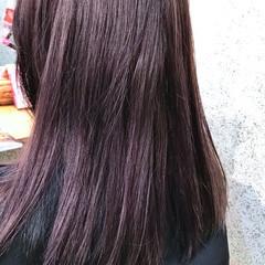ロング ラベンダーアッシュ ラベンダー パープル ヘアスタイルや髪型の写真・画像