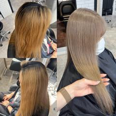 ミルクティーベージュ ミルクティー ホワイトカラー ホワイトベージュ ヘアスタイルや髪型の写真・画像