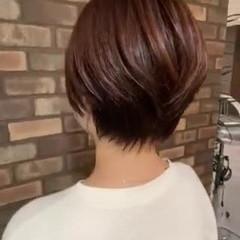 イルミナカラー 大人ショート ショート ナチュラル ヘアスタイルや髪型の写真・画像