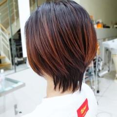ウルフカット ナチュラル ショートヘア ショート ヘアスタイルや髪型の写真・画像