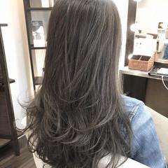 大人ハイライト 3Dハイライト 髪質改善カラー ロング ヘアスタイルや髪型の写真・画像