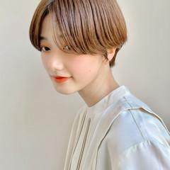大人かわいい ショート 大人女子 ナチュラル ヘアスタイルや髪型の写真・画像