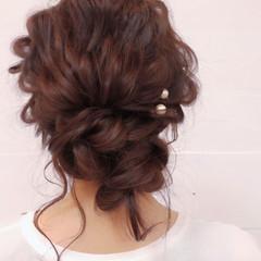 簡単ヘアアレンジ ロング ヘアアレンジ 結婚式 ヘアスタイルや髪型の写真・画像