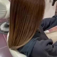 ハイライト グラデーションカラー ベージュ コンサバ ヘアスタイルや髪型の写真・画像