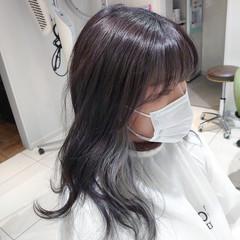 ハイトーンカラー ブリーチ必須 グレージュ インナーカラー ヘアスタイルや髪型の写真・画像
