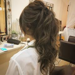 夏 女子会 上品 セミロング ヘアスタイルや髪型の写真・画像