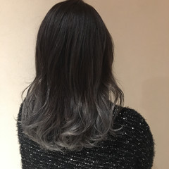 ハイライト ミディアム 3Dカラー 外国人風 ヘアスタイルや髪型の写真・画像