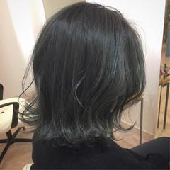 ボブ モード ブルーバイオレット グリーン ヘアスタイルや髪型の写真・画像