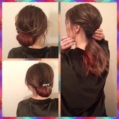 セルフヘアアレンジ ショート 簡単ヘアアレンジ 大人かわいい ヘアスタイルや髪型の写真・画像