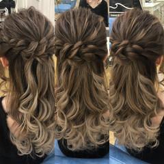 外国人風 エレガント デート 結婚式 ヘアスタイルや髪型の写真・画像