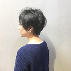 ハンサムショート ショートヘア ナチュラル ショート ヘアスタイルや髪型の写真・画像